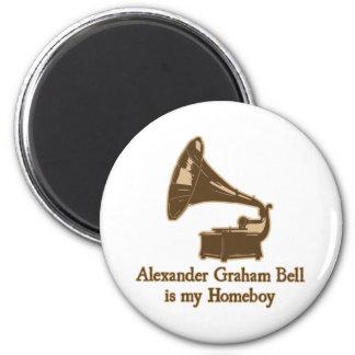 Alexander Graham Bell est mon Homeboy Magnet Rond 8 Cm