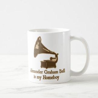 Alexander Graham Bell est mon Homeboy Mug Blanc