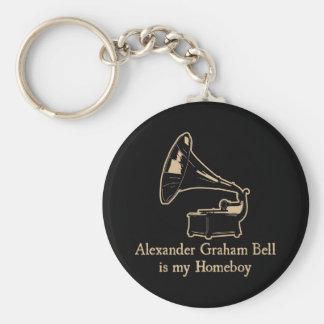 Alexander Graham Bell est mon Homeboy Porte-clé Rond