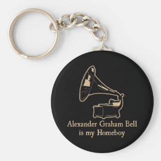 Alexander Graham Bell is my Homeboy Key Chains