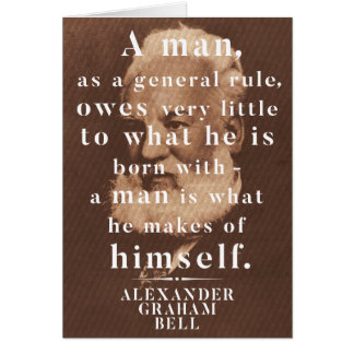 Alexander Graham Bell Life Wisdom Quote Card