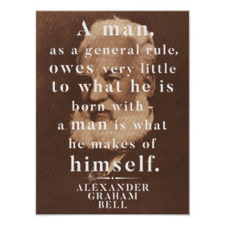 Alexander Graham Bell Life Wisdom Quote Poster