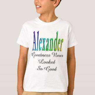 Alexander,_Greatness Logo, Boys White T-shirt. T-Shirt