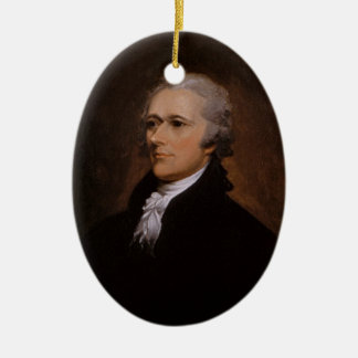 Alexander Hamilton Ceramic Ornament
