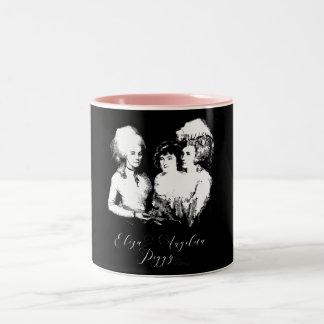 Alexander Hamilton. Eliza, Angelica, Peggy. Two-Tone Coffee Mug