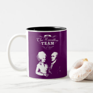 Alexander Hamilton, Eliza. History Gifts. Portrait Two-Tone Coffee Mug