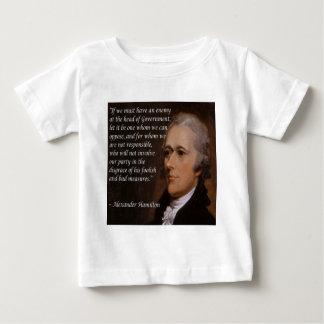 "Alexander Hamilton ""Enemy Leader"" Gift Baby T-Shirt"