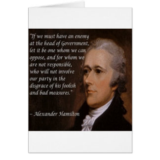 "Alexander Hamilton ""Enemy Leader"" Gift Card"