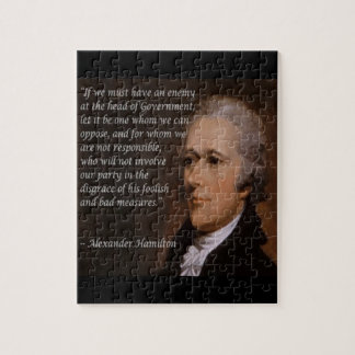 "Alexander Hamilton ""Enemy Leader"" Gift Jigsaw Puzzle"