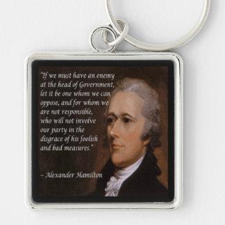 "Alexander Hamilton ""Enemy Leader"" Gift Keychain"
