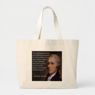 """Alexander Hamilton """"Enemy Leader"""" Gift Large Tote Bag"""