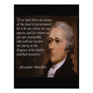 "Alexander Hamilton ""Enemy Leader"" Gift Letterhead"