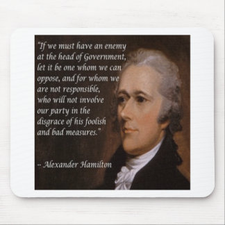 "Alexander Hamilton ""Enemy Leader"" Gift Mouse Pad"