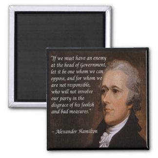 "Alexander Hamilton ""Enemy Leader"" Gift Square Magnet"