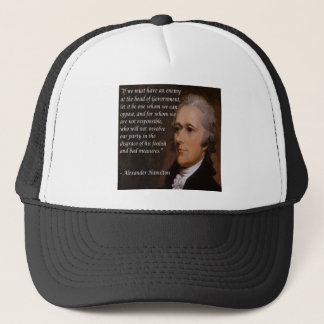 "Alexander Hamilton ""Enemy Leader"" Gift Trucker Hat"