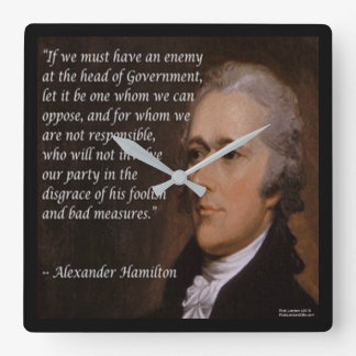 "Alexander Hamilton ""Enemy Leader"" Wall Clock"