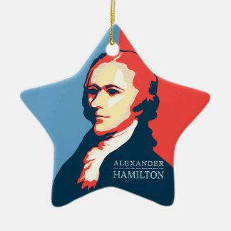 Alexander Hamilton for Your Christmas Tree Ceramic Star Ornament