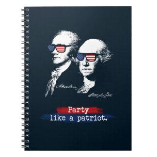 Alexander Hamilton George Washington Patriots Gift Notebook