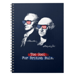 Alexander Hamilton, George Washington - Too cool Notebook