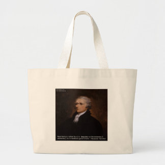 Alexander Hamilton Gifts Large Tote Bag