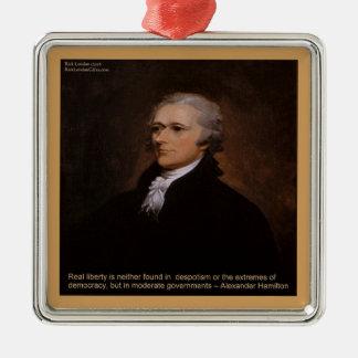 Alexander Hamilton Gifts Metal Ornament