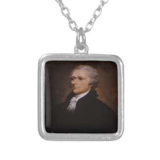 Alexander Hamilton Gifts Silver Plated Necklace