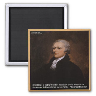 Alexander Hamilton Gifts Square Magnet