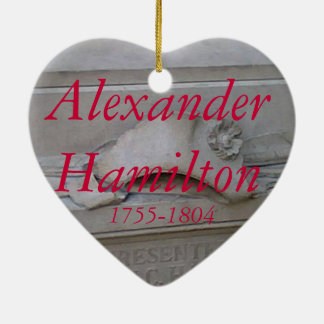 Alexander Hamilton heart ornament