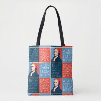 Alexander Hamilton Quotations Tote Bag