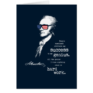 Alexander Hamilton Quote Saying. Motivational Gift Card