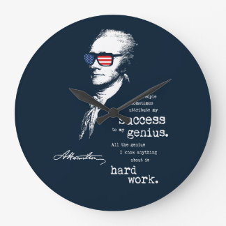 Alexander Hamilton Quote Saying. Motivational Gift Large Clock