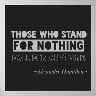 Alexander Hamilton Quote Typography Black & Gray Poster