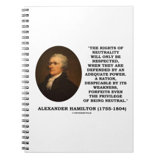 Alexander Hamilton Rights Of Neutrality Power Notebook