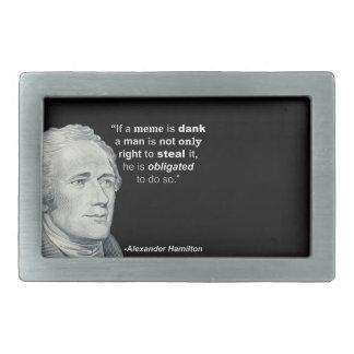 Alexander Hamilton's Dank Meme - Belt Buckle