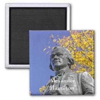Alexander Hamilton Statue Square Magnet