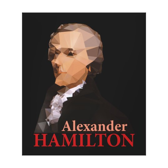Alexander Hamilton, Triangulated Canvas Print