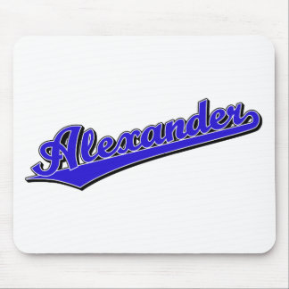 Alexander in Blue Mouse Pad