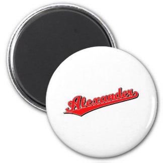 Alexander in Red 2 Inch Round Magnet