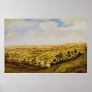 Alexander Keirincx - Richmond Castle, Yorkshire Poster