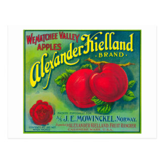 Alexander Kielland Apple Label - Cashmere, WA Postcard