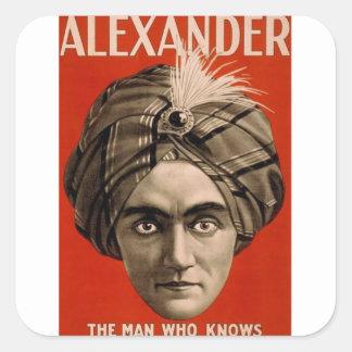 Alexander Knows Square Sticker