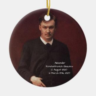 Alexander Konstamtinovich Glazunov 1887 Ceramic Ornament
