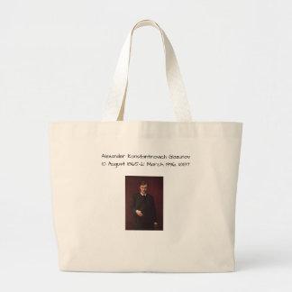 Alexander Konstamtinovich Glazunov 1887 Large Tote Bag