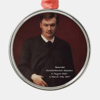 Alexander Konstamtinovich Glazunov 1887 Metal Ornament