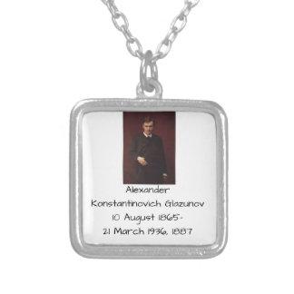 Alexander Konstamtinovich Glazunov 1887 Silver Plated Necklace