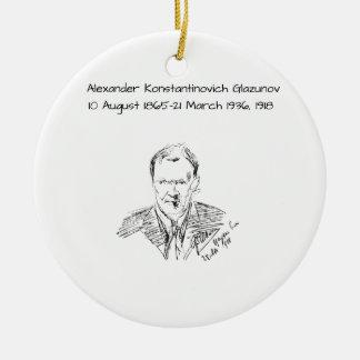 Alexander Konstamtinovich Glazunov 1918 Ceramic Ornament
