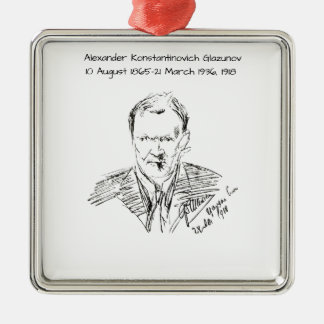 Alexander Konstamtinovich Glazunov 1918 Metal Ornament
