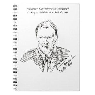 Alexander Konstamtinovich Glazunov 1918 Notebooks