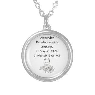 Alexander Konstamtinovich Glazunov 1918 Silver Plated Necklace