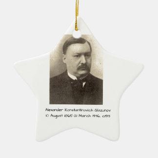 Alexander Konstamtinovich Glazunov c1913 Ceramic Ornament